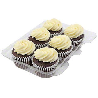 Central Market Chocolate Cupcakes with Vanilla Buttercream Icing 6 count,EACH