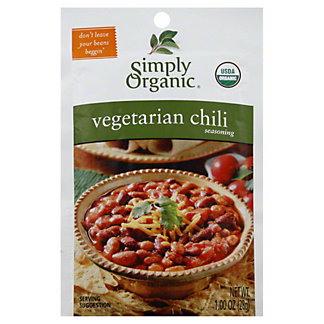 Simply Organic Vegetarian Chili Seasoning, 1.00 oz