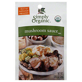 Simply Organic Wild Mushroom Sauce Mix,.85 OZ