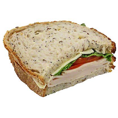 Central Market Turkey Havarti - Half Sandwich, EACH