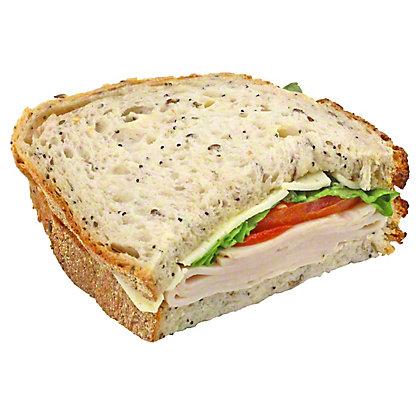 Central Market Turkey Havarti - Half Sandwich, EACH