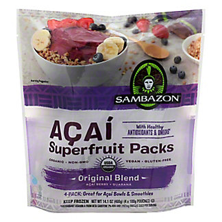 Sambazon The Original Smoothie Packs With Acai Berry + Guarana,14 OZ