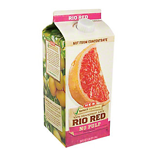 H-E-B Select Ingredients No Pulp Rio Red 100% Grapefruit Juice,59.00 oz