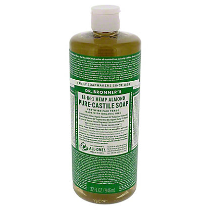 Dr. Bronner's Magic Soaps 18-in-1 Hemp Almond Pure-Castile Soap,32 OZ