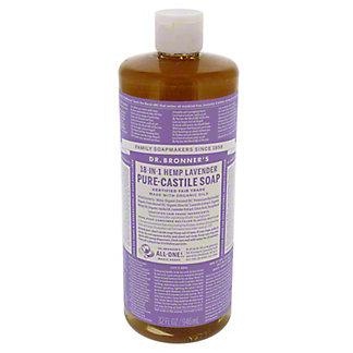 Dr. Bronner's 18-in-1 Hemp Lavender Pure-Castile Soap,32 OZ
