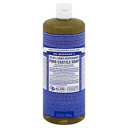 Dr. Bronner's 18-In-1 Hemp Peppermint Pure-Castile Soap,32 OZ