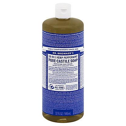 Dr. Bronner's 18-In-1 Hemp Peppermint Pure-Castile Soap,32 OZ