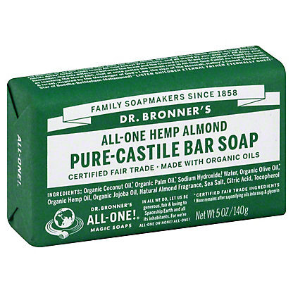 Dr. Bronner's Magic Soaps All-One Hemp Almond Pure-Castile Soap,5 OZ