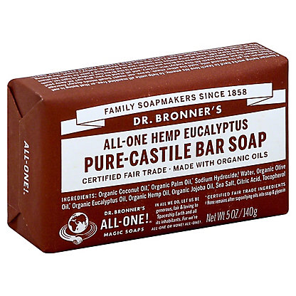 Dr. Bronner's Magic Soaps All-One Hemp Eucalyptus Pure-Castile Soap,5 OZ