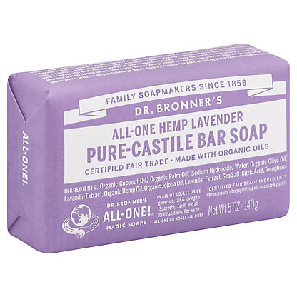 Dr. Bronner's Magic Soaps All-One Hemp Lavender Pure-Castile Soap,5 OZ