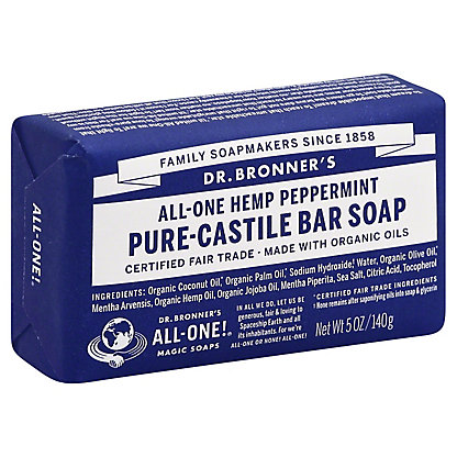 Dr. Bronner's Magic Soaps All-One Hemp Peppermint Pure-Castile Soap,5 OZ