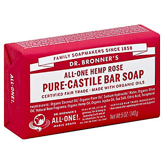 Dr. Bronner's Magic Soaps All-One Hemp Rose Pure-Castile Soap,5 OZ