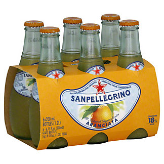 San Pellegrino Arancata Italian Sparkling Orange Beverage 6 PK,6.5 OZ