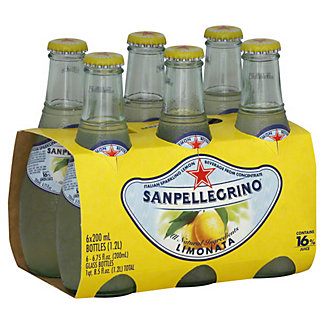 Sanpellegrino Limonata Italian Sparkling Lemon Beverage 6 PK,6.5 OZ