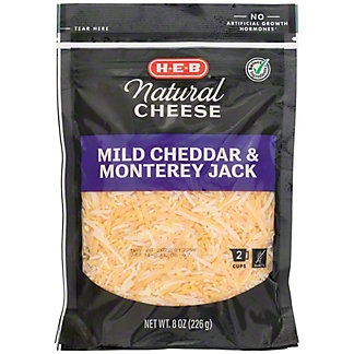 H-E-B Mild Cheddar and Monterey Jack Fancy Shredded Cheese,8 OZ