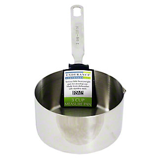 RSVP Measuring Pan/3 Cup Stove Top Safe, 1EA