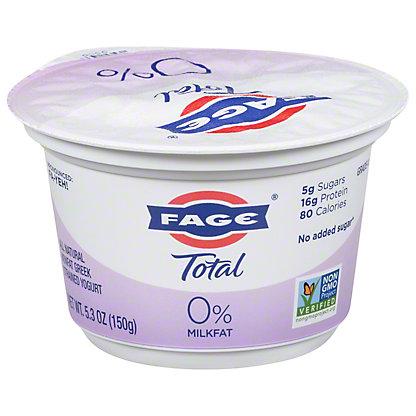 Fage Total 0% Plain Greek Strained Nonfat Yogurt, 6 oz