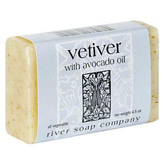 River Soap Company Vetiver with Avocado Oil Soap, 4.5 OZ