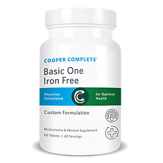 Cooper Complete Basic One Iron Free Multivitamin And Mineral Supplement Tablets,60 CT