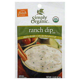Simply Organic Organic Dip Mix - Ranch,1.5 OZ