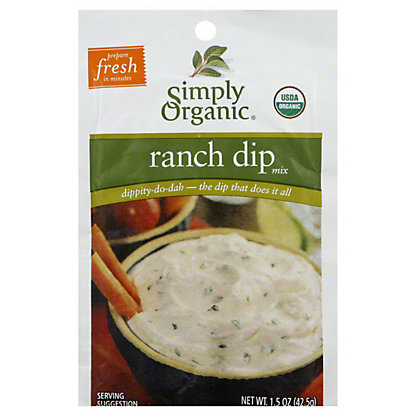 Simply Organic Organic Dip Mix - Ranch,1.5 OZ