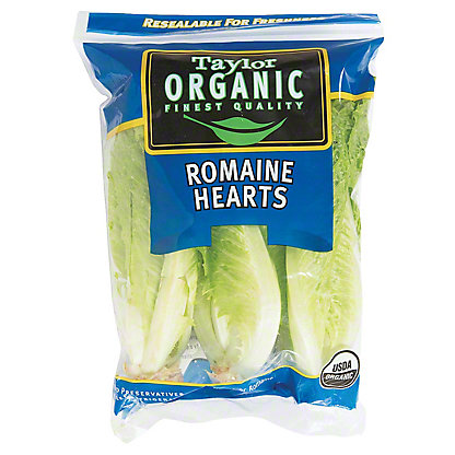 Fresh Organic Romaine Heart Lettuce, 3 ct