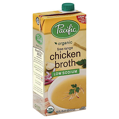 Pacific Foods Organic Free Range Low Sodium Chicken Broth,32.00 oz