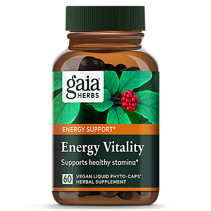 Gaia Herbs DailyWellness Energy Vitality Liquid Phyto Capsules, 60 ct