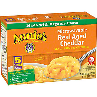 Annie's Homegrown Microwavable Mac and Cheese, 5 ct