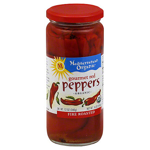 Mediterranean Organic Fire Roasted Red Peppers, 12 OZ