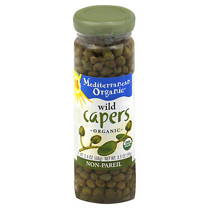 Mediterranean Organic Wild Non-Pareil Capers,3.5 oz