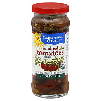Mediterranean Organic Sundried Tomatoes in Olive Oil,8.5 OZ