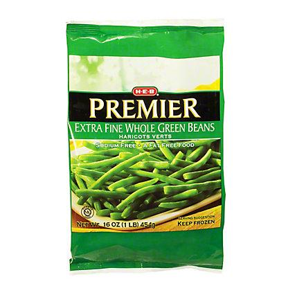 H-E-B Premiere Extra Fine Whole Green Beans,16 oz