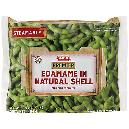H-E-B Premier Steamable Edamame in Natural Shell,16 oz