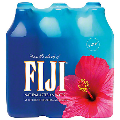Fiji Natural Artesian Water 1 L Bottles, 1 L - Central Market
