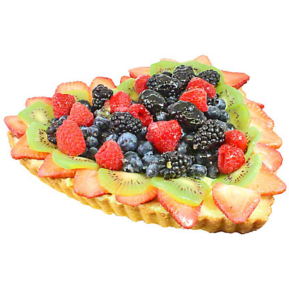 Central Market Heart Shaped Fresh Fruit Tart, 10 in