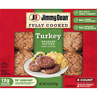 Jimmy Dean Turkey Sausage Patties,8.00 ea