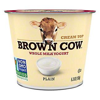 BROWN COW Whole Milk Plain Yogurt, 6 oz