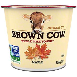 Brown Cow Cream Top Maple Yogurt,5.3 oz