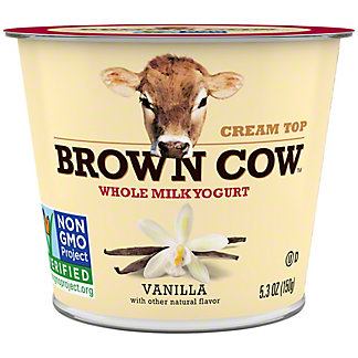 Brown Cow Cream Top Smooth and Creamy Vanilla Yogurt, 6 oz