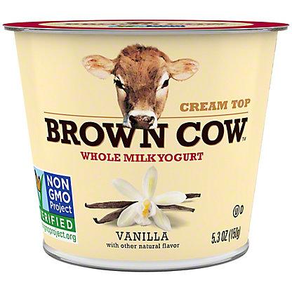 Brown Cow Cream Top Smooth and Creamy Vanilla Yogurt, 6 oz