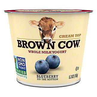 Brown Cow Cream Top Blueberry on the Bottom Yogurt, 6 oz