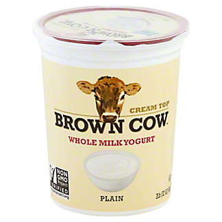 Brown Cow Cream Top Plain Yogurt,32 OZ