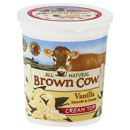 Brown Cow Vanilla Yogurt,32 OZ