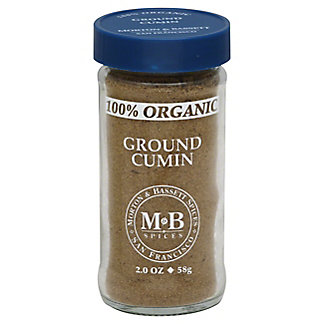 Morton & Bassett 100% Organic Ground Cumin,2 OZ