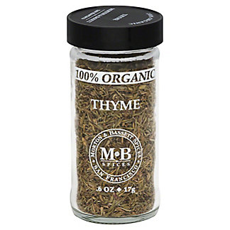 Morton & Bassett 100% Organic Thyme,0.6 OZ