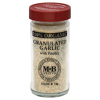 Morton & Bassett 100% Organic Granulated Garlic with Parsley,2.6 OZ