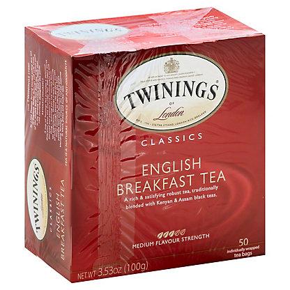 Twinings Classics English Breakfast Tea, 50 ea