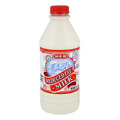 H-E-B Select Ingredients Reduced Fat 2% Milkfat Milk,1 QT