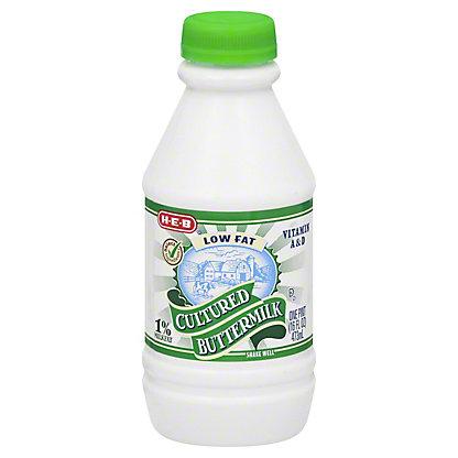 H-E-B Low Fat Cultured 1% Milkfat Buttermilk,1 pt